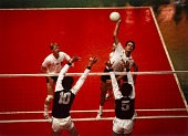 view Dave Saunders, (Spiking) Volleyball, Pan-American Games, Caracas, Venezuela, from the series Shooting for the Gold digital asset number 1