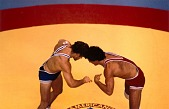 view Mark Schultz, (right) Wrestling, Pan-American Games, Caracas, Venezuela, from the series Shooting for the Gold digital asset number 1