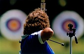 view Luanne Ryon, Archery, Pan-American Games, Caracas, Venezuela, from the series Shooting for the Gold digital asset number 1