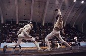 view Timothy Glass (left), Fencer, Pan-American Games, Caracas, Venezuela, from the series Shooting for the Gold digital asset number 1