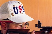 view Lones Wigger, Marksman, Pan-American Games, Caracas, Venezuela, from the series Shooting for the Gold digital asset number 1