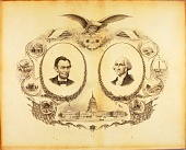 view Portrait of Lincoln and Washington digital asset number 1