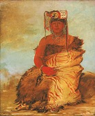 view La-kée-too-wi-rá-sha, Little Chief, a Tapage Pawnee Warrior digital asset number 1