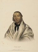 view LITTLE CROW. A SIOUX CHIEF, from History of the Indian Tribes of North America digital asset number 1