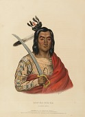 view MON-KA-USH-KA. A SIOUX CHIEF., from History of the Indian Tribes of North America digital asset number 1
