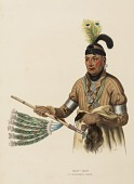 view NAW-KAW. A WINNEBAGO CHIEF., from History of the Indian Tribes of North America digital asset number 1