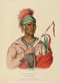 view NE-O-MON-NE, AN IOWAY CHIEF, from History of the Indian Tribes of North America digital asset number 1