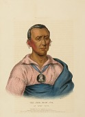 view WAT-CHE-MON-NE, AN IOWAY CHIEF., from History of the Indian Tribes of North America digital asset number 1