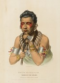 view YOUNG MA-HAS-KAH. CHIEF OF THE IOWAYS., from History of the Indian Tribes of North America digital asset number 1