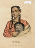 view RANT CHE WAI ME. FEMALE FLYING PIGEON., from History of the Indian Tribes of North America digital asset number 1