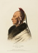 view LE SOLDAT DU CHENE, AN OSAGE CHIEF., from History of the Indian Tribes of North America digital asset number 1