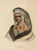 view PET-A-LE-SHAR-RO. A PAWNEE BRAVE., from History of the Indian Tribes of North America digital asset number 1