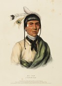 view NO-TIN. A CHIPPEWA CHIEF., from History of the Indian Tribes of North America digital asset number 1