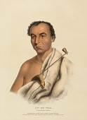 view ON-GE-WAE. A CHIPPEWA CHIEF., from History of the Indian Tribes of North America digital asset number 1