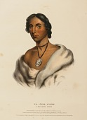 view PA-SHE-NINE. A CHIPPEWA CHIEF, from History of the Indian Tribes of North America digital asset number 1