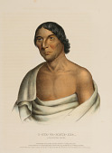view O-HYA-WA-MINCE-KEE, A CHIPPEWA CHIEF., from History of the Indian Tribes of North America digital asset number 1