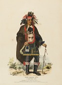 view OKEE-MAKEE-QUID. A CHIPPEWAY CHIEF., from History of the Indian Tribes of North America digital asset number 1