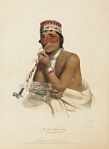 view WA-EM-BOESH-KAA. A CHIPPEWAY CHIEF., from History of the Indian Tribes of North America digital asset number 1