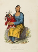 view A CHIPPEWAY WIDOW., from History of the Indian Tribes of North America digital asset number 1