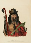 view KISH-KE-KOSH. A FOX BRAVE, from History of the Indian Tribes of North America digital asset number 1
