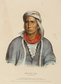 view KEE-SHE-WAA. A FOX WARRIOR., from History of the Indian Tribes of North America digital asset number 1