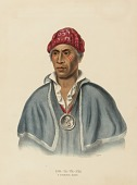 view QUA-TA-WA-PLA. A SHAWANOE CHIEF from History of the Indian Tribes of North America digital asset number 1