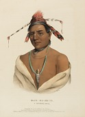 view MAR-KO-ME-TE, A MENOMENE BRAVE, from History of the Indian Tribes of North America digital asset number 1