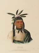 view AMISKQUEW. A MENOMINIE WARRIOR., from History of the Indian Tribes of North America digital asset number 1