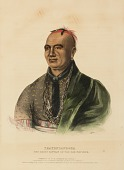 view THAYENDANEGEA. THE GREAT CAPTAIN of the SIX NATIONS, from History of the Indian Tribes of North America digital asset number 1