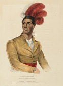 view AHYOUWAIGHS. CHIEF OF THE SIX NATIONS., from History of the Indian Tribes of North America digital asset number 1