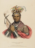 view KI-ON-TWOG-KY., from History of the Indian Tribes of North America digital asset number 1