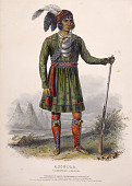 view ASSEOLA, A SEMINOLE LEADER., from History of the Indian Tribes of North America digital asset number 1