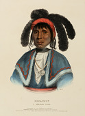view MICANOPY. A SEMINOLE CHIEF., from History of the Indian Tribes of North America digital asset number 1