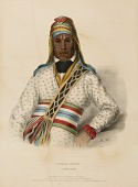 view YOHOLO-MICCO. A CREEK CHIEF., from History of the Indian Tribes of North America digital asset number 1