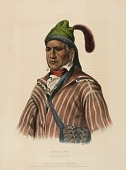 view ME-NA-WA. A CREEK WARRIOR, from History of the Indian Tribes of North America digital asset number 1