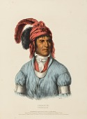 view LEDAGIE. A CREEK CHIEF., from History of the Indian Tribes of North America digital asset number 1