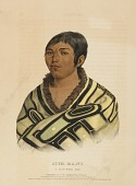 view STUM-MA-NU, A FLAT-HEAD BOY., from History of the Indian Tribes of North America digital asset number 1