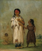 view Assiniboin Woman and Child digital asset number 1