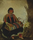 view Jú-ah-kís-gaw, Woman With Her Child in a Cradle digital asset number 1