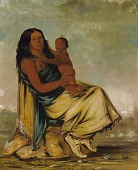 view Wáh-chee-te, Wife of Cler-mónt, and Child digital asset number 1