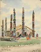 view Alaska Building with Totems at St. Louis Exposition digital asset number 1