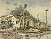 view View of Wrangell, Alaska, in 1884 digital asset number 1
