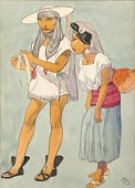 view Man and Woman in Regional Costume, Indians of Novachuc digital asset number 1