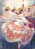 view Dancers in Dress Costume, la Pollera of Panama digital asset number 1