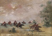 view Comanche War Party, Mounted on Wild Horses digital asset number 1