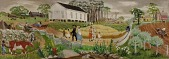 view Rural Mississippi from Early Days to Present (study for mural) digital asset number 1