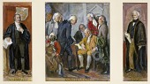 view Great Codifiers of the Law: Marshall, the Constitution, Kent, study for mural, Department of Justice, Washington D.C. digital asset number 1
