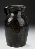 view Pitcher with Blue-on-Brown Glaze digital asset number 1