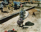 view Grave with Heart-Shaped Wreath--Hale County, Alabama digital asset number 1