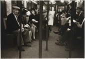 view Untitled--People on Subway, Poles in Foreground, from the portfolio Photographs of New York digital asset number 1